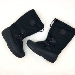 SOREL Black Insulated Lined Snow Boots